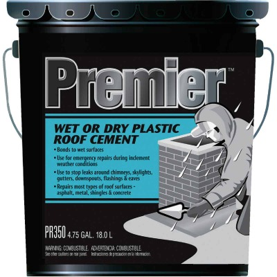 Premier 350 5 Gal. Wet or Dry Plastic Roof Cement