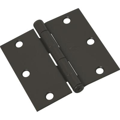 National 3-1/2 In. Square Oil Rubbed Bronze Door Hinge