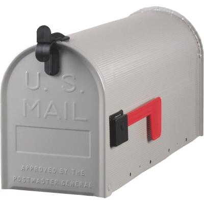 Gibraltar Grayson T1 Gray Steel Rural Post Mount Mailbox