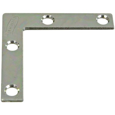 National Catalog 117 2 In. x 3/8 In. Zinc Flat Corner Iron