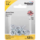 National #14 Zinc Large Screw Eye (12 Ct.) Image 2