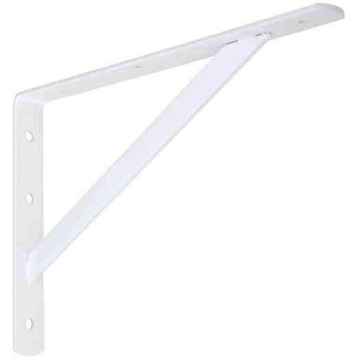 National 111 12 In. White Steel Super Strength Shelf Bracket