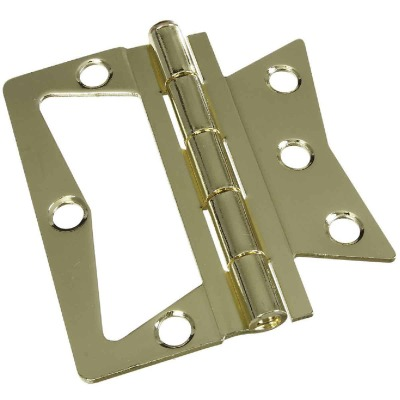 National 3-1/2 In. x 3-1/2 In. Non-Mortise Hinge (2 Count)