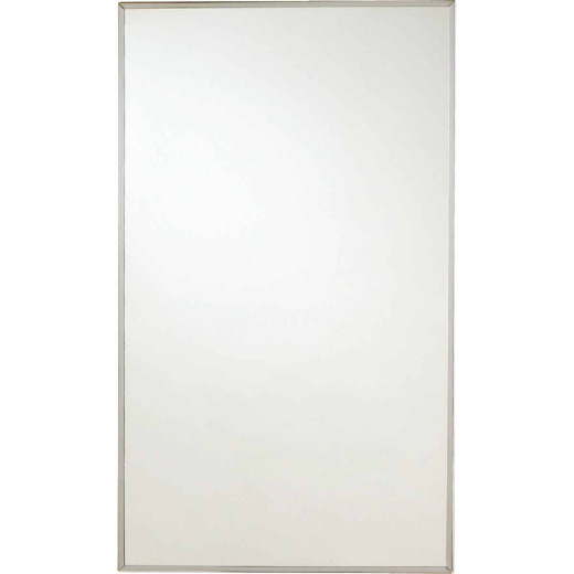 Zenith Stainless Steel 13.5 In. W x 23.5 In. H x 3.5 In. D Single Mirror Surface/Recess Mount Medicine Cabinet
