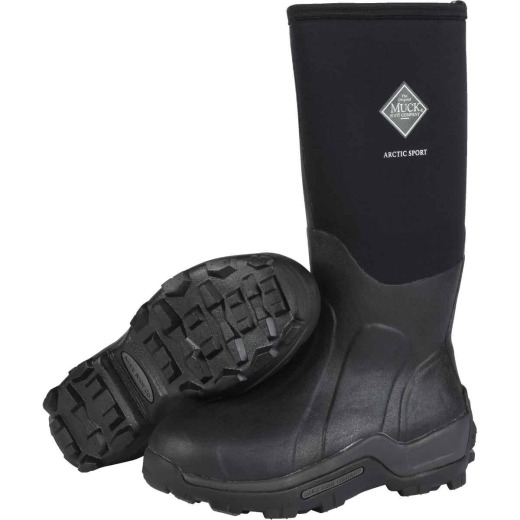 Muck Arctic Sport Men's Size 8 Black Hi Performance Rubber Boot
