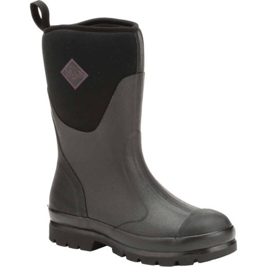Muck Chore Mid Women's Size 10 Black Rubber Pull-On Boot