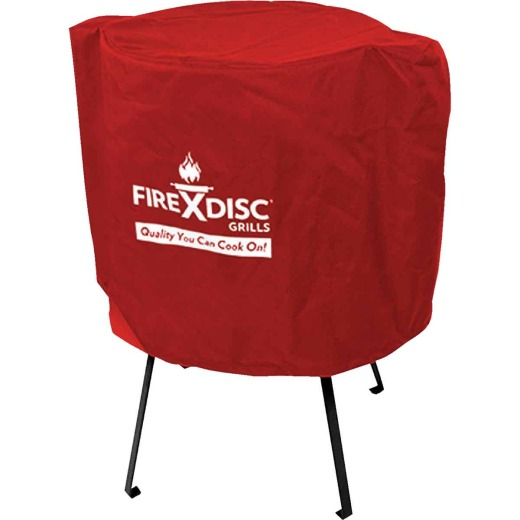 FireDisc Red PVC Grill Cover, Fits all FireDisc Sizes